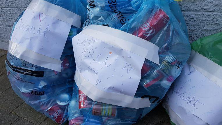 In Lauwe worden de vuilnisophalers niet vergeten in deze moeilijke tijden.
