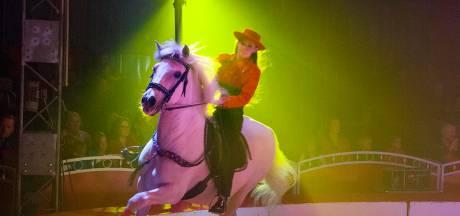 Circus Freiwald treedt op in Bergeijk
