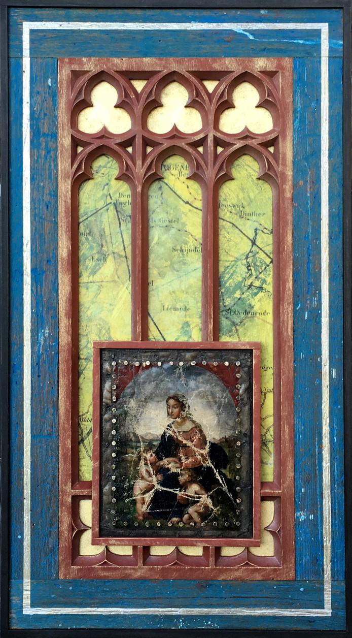 Eigentijdse iconen van Harry Verhoeven sieren het boek van Rob Mutsaerts.