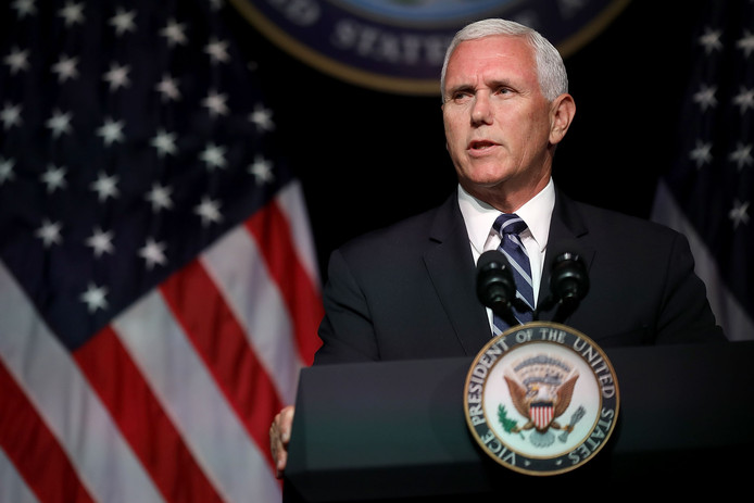 Vicepresident Mike Pence onthulde in het Pentagon meer details over de Space Force.
