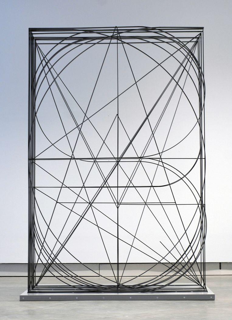 Koen Taselaar: Untitled, 2011 (gezandstraald staal). Beeld -
