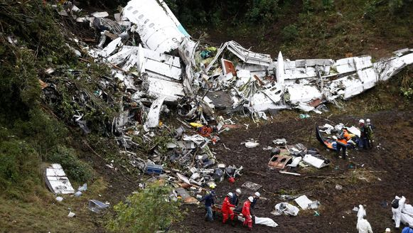 Nagenoeg alle spelers van de Braziliaanse voetbalclub Chapecoense kwamen op 29 november 2016 om het leven bij een vliegtuigcrash in Colombia.