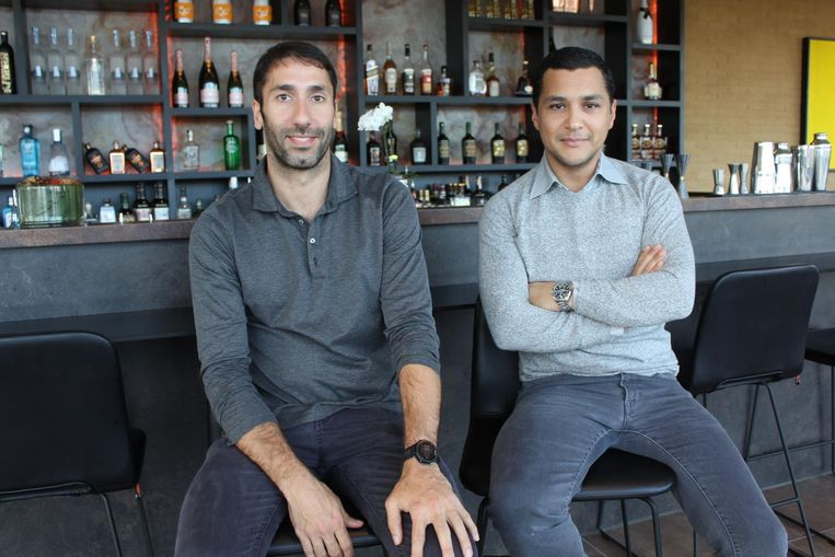 Karim Touh en Filip De Meester in hun zaak Cul'eau.