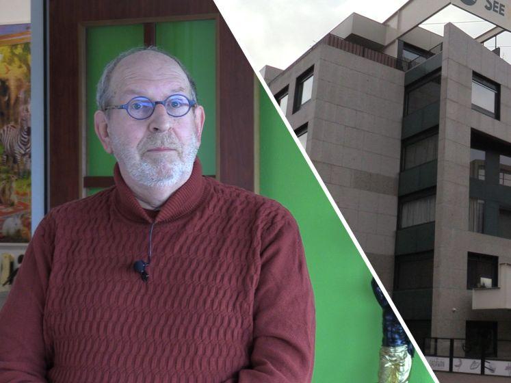 Ron woont in een penthouse in een oud bankgebouw in Arnhem