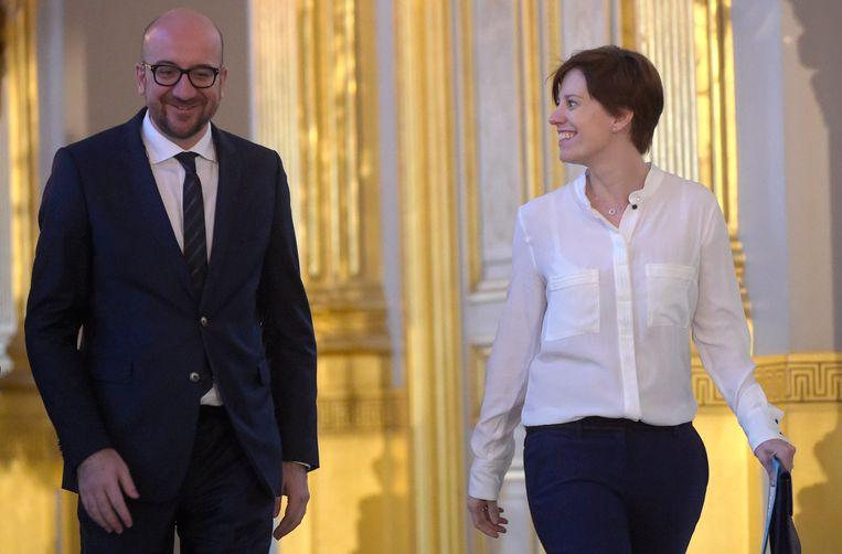 Premier Charles Michel en zijn vriendin Amélie Derbaudrenghien.