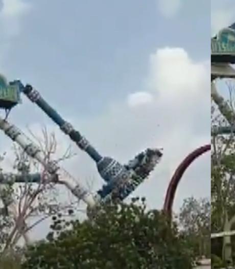 Une attraction s'effondre en Inde: trois morts