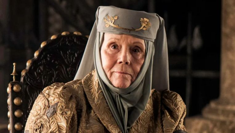 Lady Olenna Tyrell uit 'Game Of Thrones'.