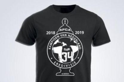 Bedrijf lanceert Ajax-kampioenenshirt ter ere van 'Appie' Nouri, maar krijgt forse kritiek