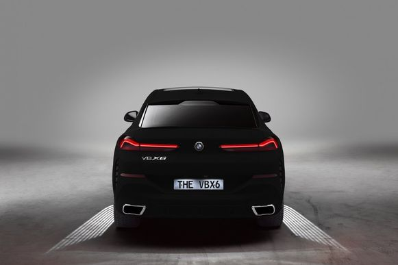 BMW X6 in Vanta Black.