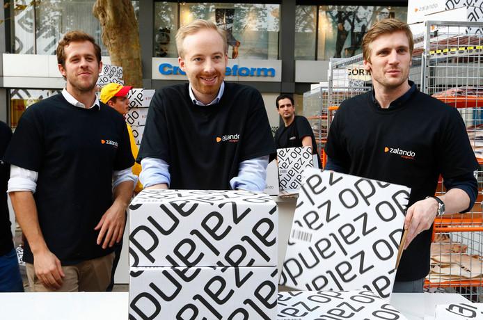 Rubin Ritter (midden) met naast zich compagnons Robert Gentz (links) en David Schneider (rechts)