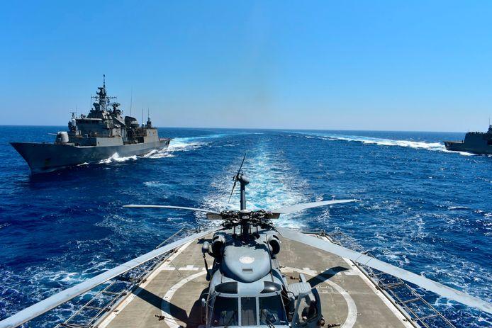 Griekenland is woensdag met enkele andere EU-landen aan een militaire oefening bij Cyprus begonnen.