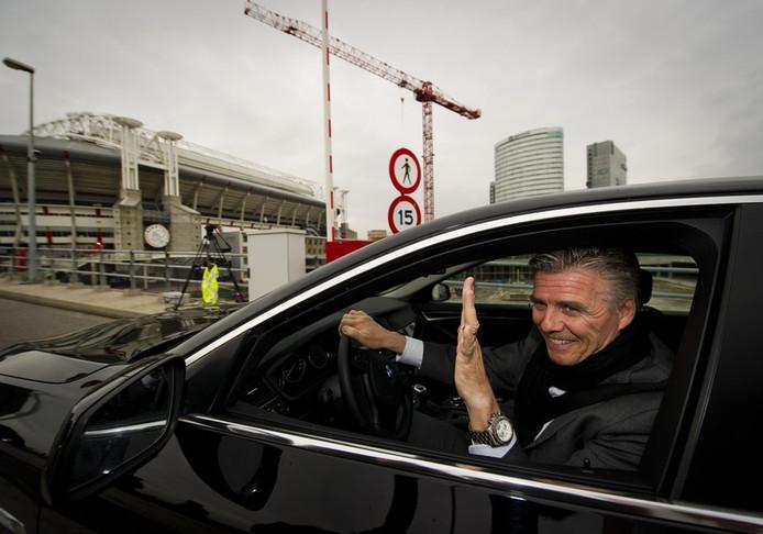 Keje Molenaar komt aan bij de Amsterdam Arena voor de ledenvergadering van Ajax.