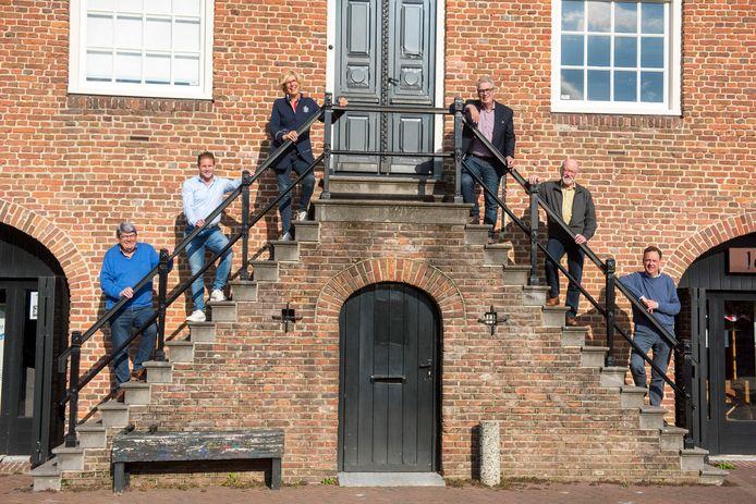 De initiatiefnemers voor de nieuwe invulling van het Schepenhuis in Budel.