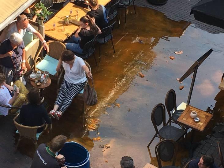 Voetjes van de vloer! Ton met vet valt om bij terrassen in Den Bosch
