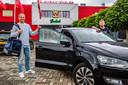 """Istvan Bakx (links) en Richard van der Venne (rechts) carpoolden vorig seizoen tussen Brabant en Deventer. Ook Paco van Moorsel en Bruno Andrade sloten zich aan bij het clubje. Een jaar later is Van der Venne echter de enige overgebleven 'Brabo-Eagle'. ,,Ik mis mijn maatjes wel."""""""
