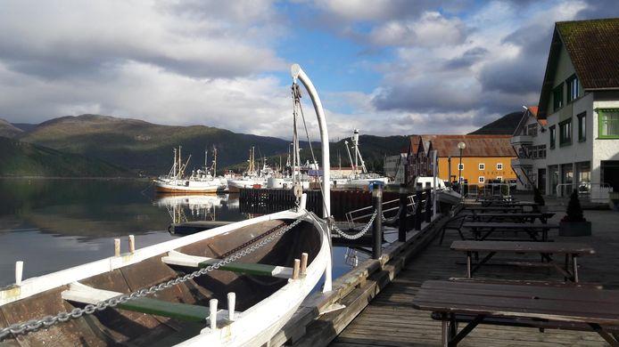 De haven van Rognan, waar Kamphuis mogelijk op een vrachtschip is gestapt