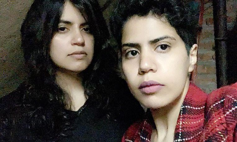 Maha (links) en haar zus Wafa al-Subaie zijn gevlucht naar Georgië.