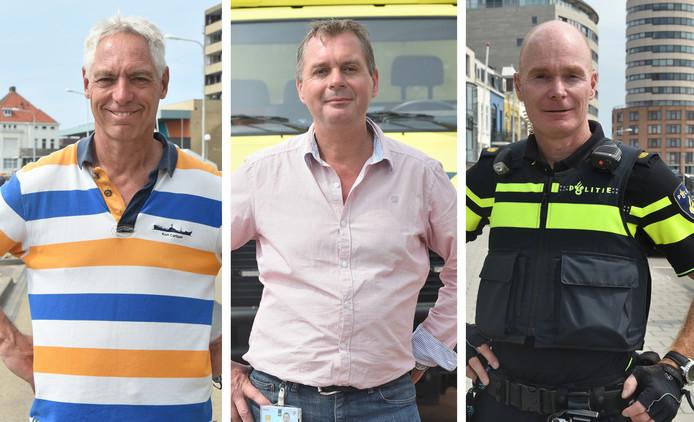 Van links naar rechts: Rick van der Net, Bert Trommelen en Martin Vogel.