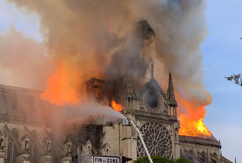 De brand in de Notre Dame.