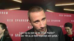 """Matthias Schoenaerts op de wereldpremière van 'Red Sparrow': """"Ik lijk wel op de jonge Vladimir Poetin"""""""