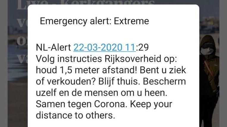 NL-Alert Beeld Trouw