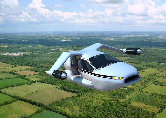 Vliegende auto van het Amerikaanse bedrijf Terrafugia, de TF-X