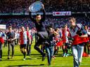 Giovanni van Bronckhorst werd glorieus landskampioen met Feyenoord.