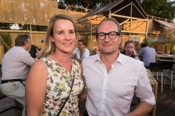 Minister Ben Weyts met vrouw, enkele jaren geleden tijdens Pukkelpop.