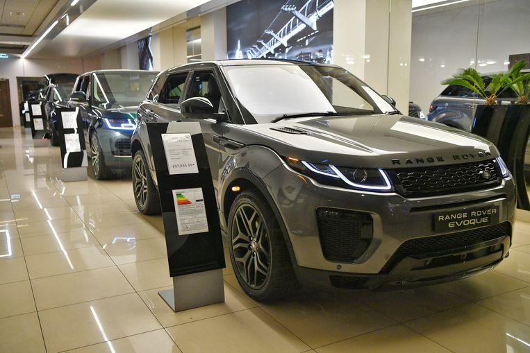 Autofabrikant Jaguar Land Rover schrapt 4500 banen en legt in april de productie stil vanwege de naderende brexit. Beeld EPA
