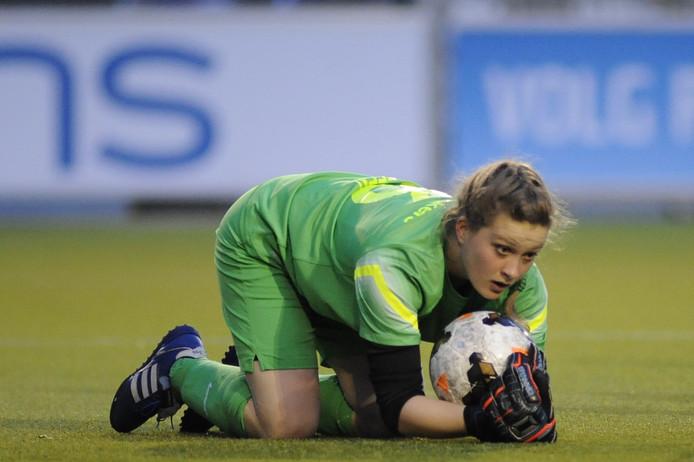Kelly Steen in actie voor PSV.