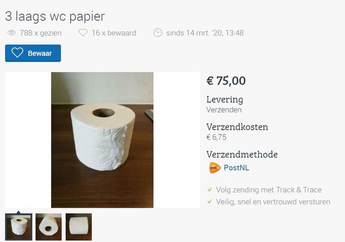 WC-papier aanbieding
