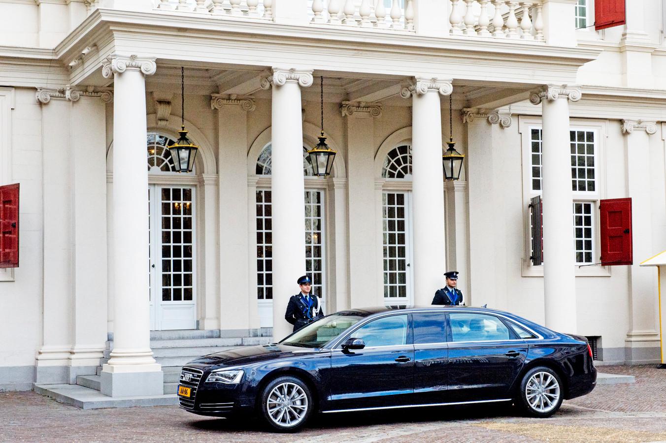De verlengde Audi A8 van Koning Willem-Alexander.