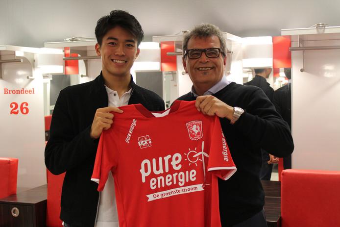 Nakamura met technisch directeur Ted van Leeuwen.