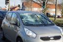Fietser geschept door automobilist in Waalwijk.