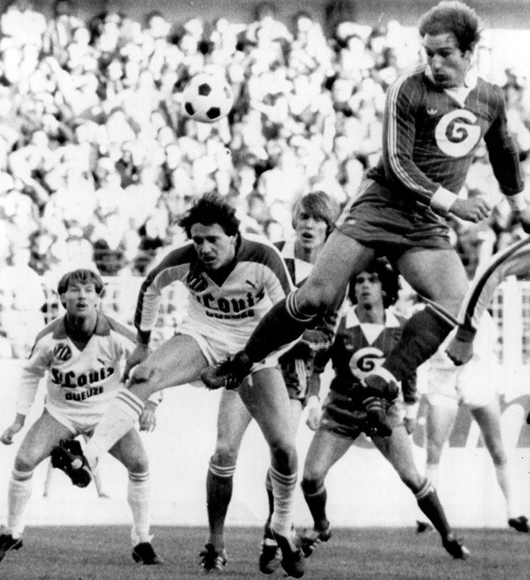 Willy Geurts in actie voor Anderlecht.