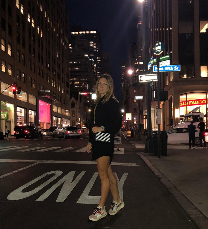 Simona Halep in New York.