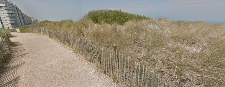 Het duinengebied in Blankenberge.