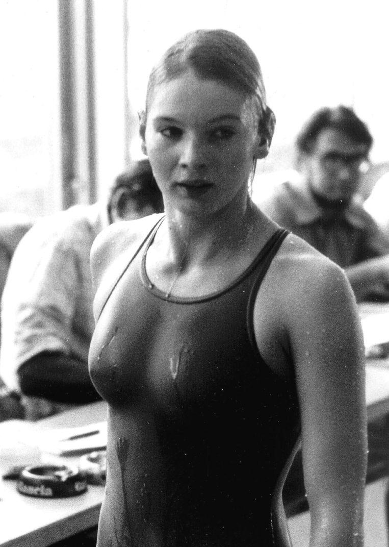 Carine op de Olympische Spelen in Moskou in 1980.