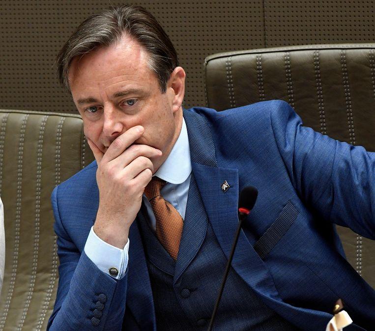 Vlaams informateur Bart De Wever laat niet in zijn kaarten kijken.