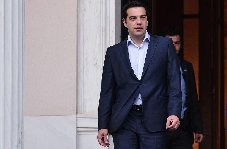 Premier Tsipras. Beeld AFP