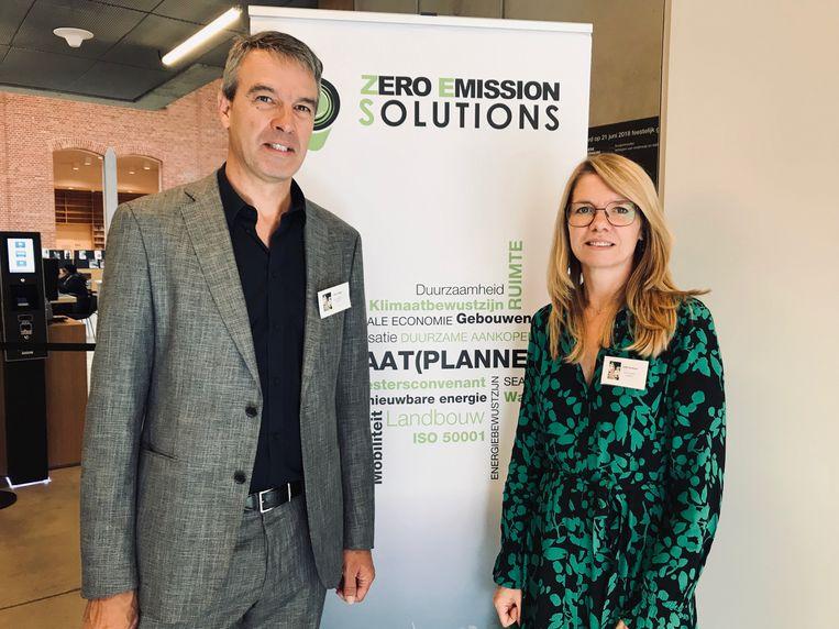 Alex Polfliet en Sofie Eeckhout van Zero Emission Solutions.