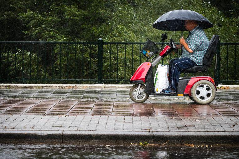 Tot nu toe is er al zo'n 50 mm regen gevallen, terwijl er normaal 75 mm over de hele maand valt. Beeld ANP