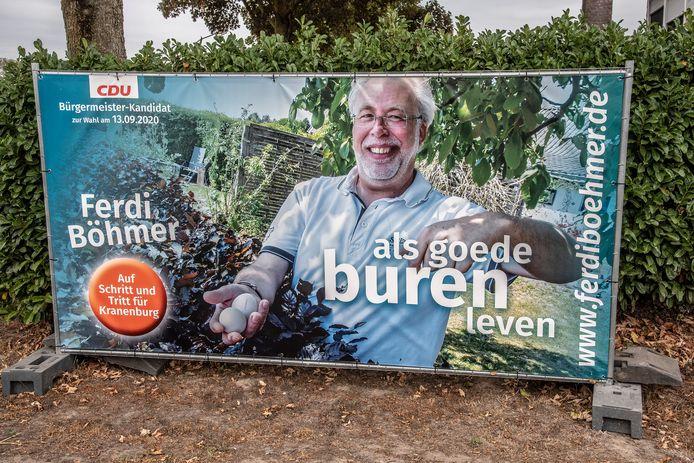 Ferdi Böhmer kreeg 51 procent van de stemmen en wordt de nieuwe burgemeester van Kranenburg.