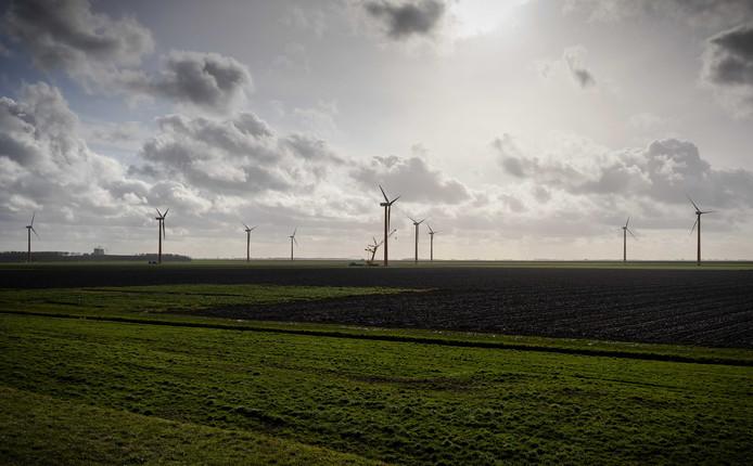 Overzicht van Almere Pampus. Eén van de plekken waar gebouwd moet worden.