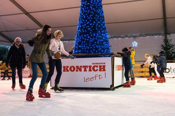 Ook gisteren kwamen nog heel wat kinderen naar de schaatspiste.