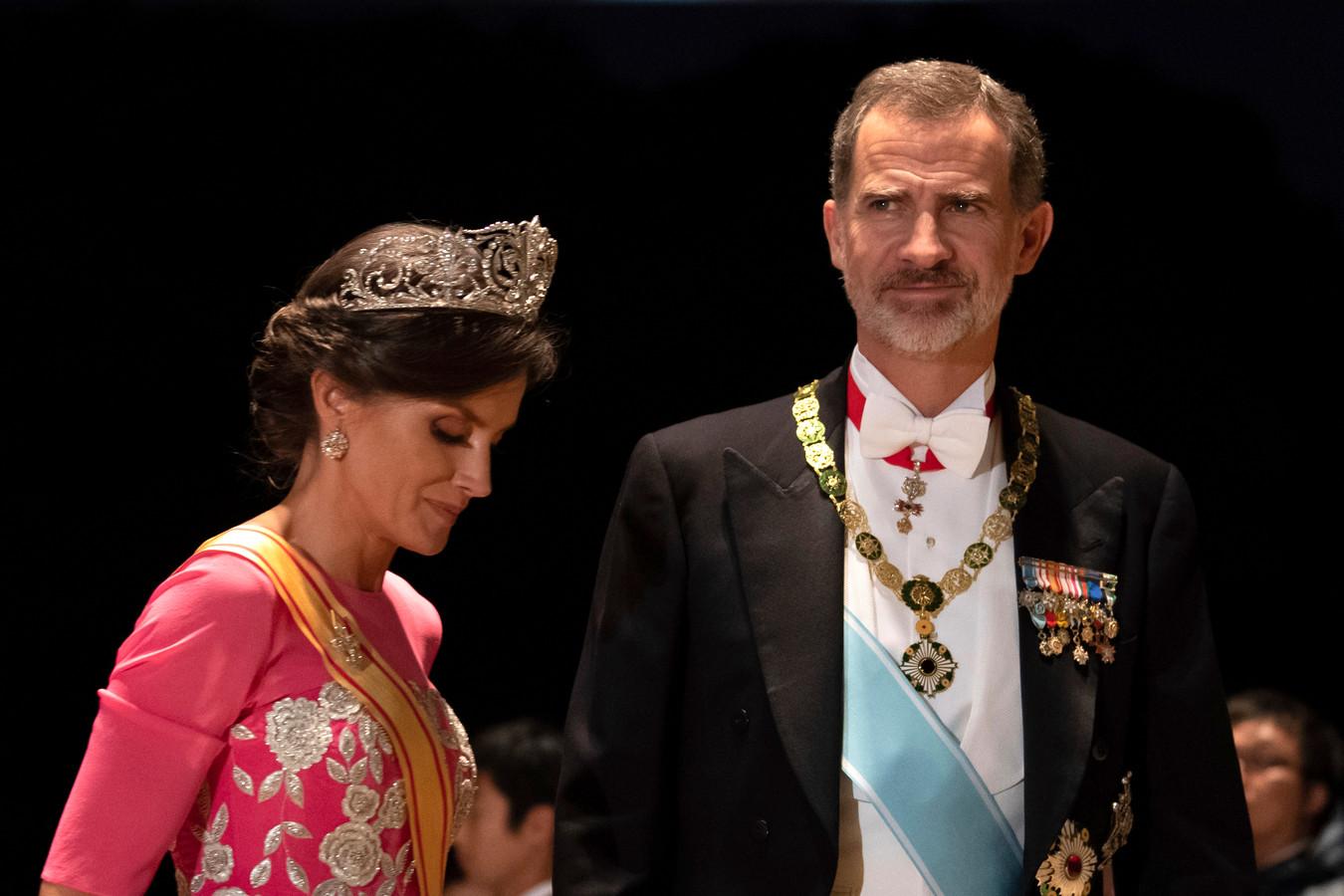 Letizia en Felipe.