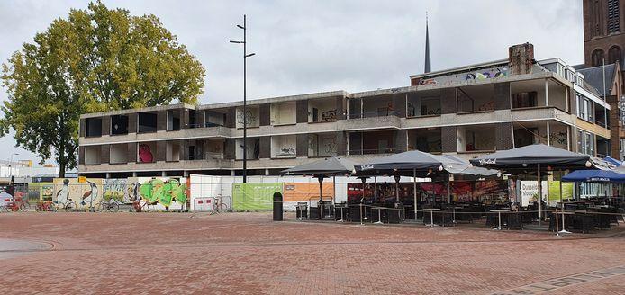 Het Ebenau-pand aan het Burgemeester Jansenplein in Hengelo.
