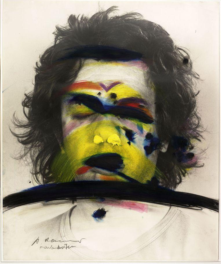 Untitled (Death Mask) van Arnulf Rainer, 1978. Beeld Albertina, Wenen