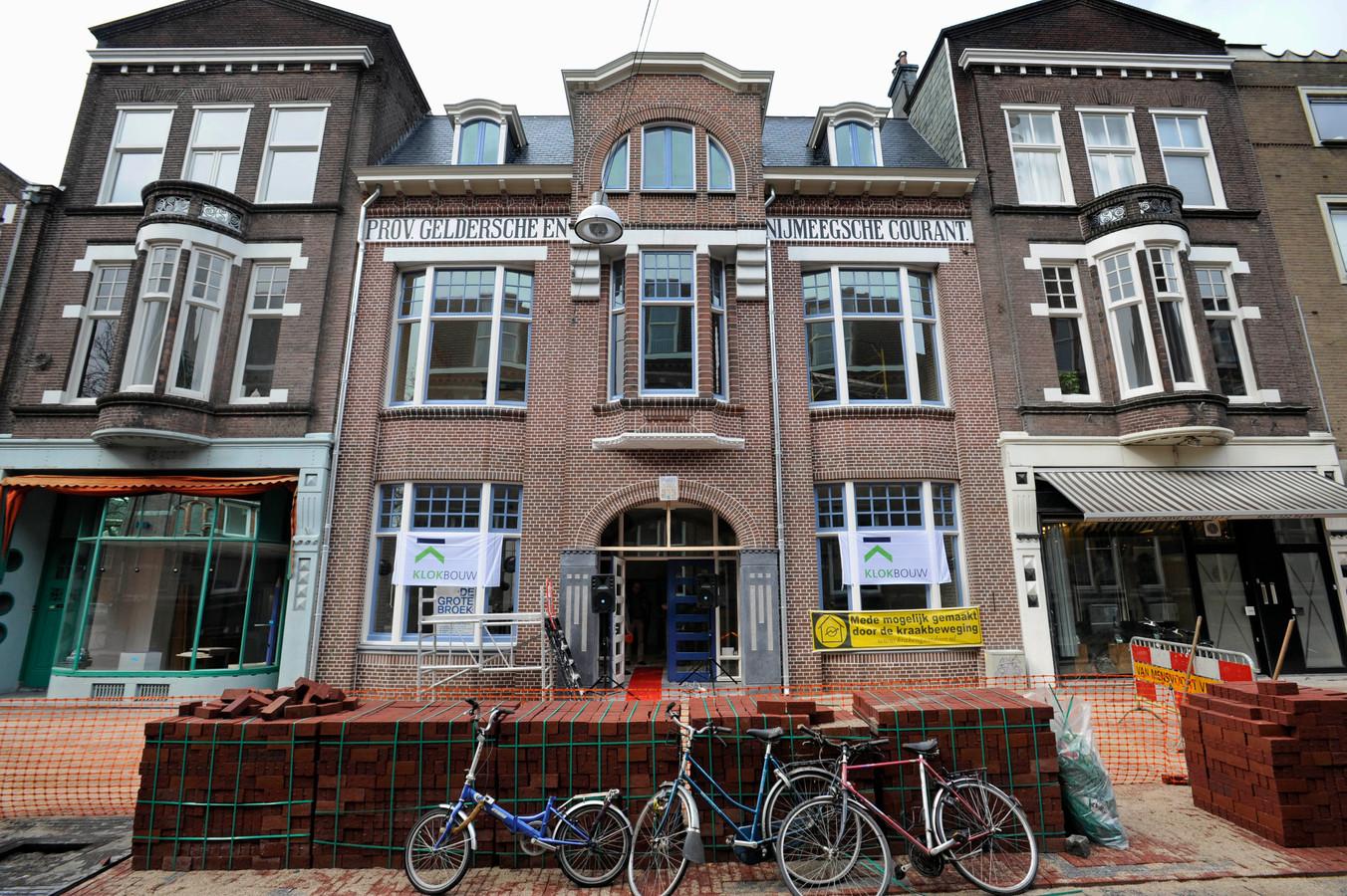 De Grote Broek aan de Van Broekhuysenstraat in Nijmegen. In de kelder is club De Onderbroek gevestigd. Archieffoto