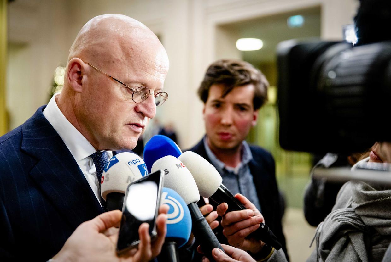 Minister Ferdinand Grapperhaus (justitie en veiligheid) staat de pers te woord over de arrestatie van de voortvluchtige topcrimineel Ridouan T. in Dubai.
